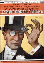 Couverture du livre « Les Aventures extraordinaires d'Arsène Lupin : Le Bouchon de cristal », illustré par Leo Fontan (éd. Pierre Lafitte 1912 ; rééd. vers 1921).