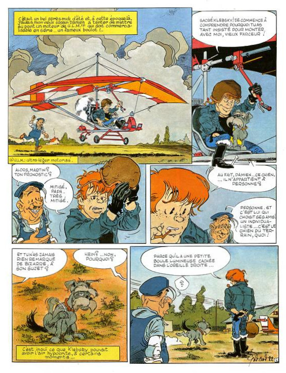 Première page de «L'Ange et le surdoué».