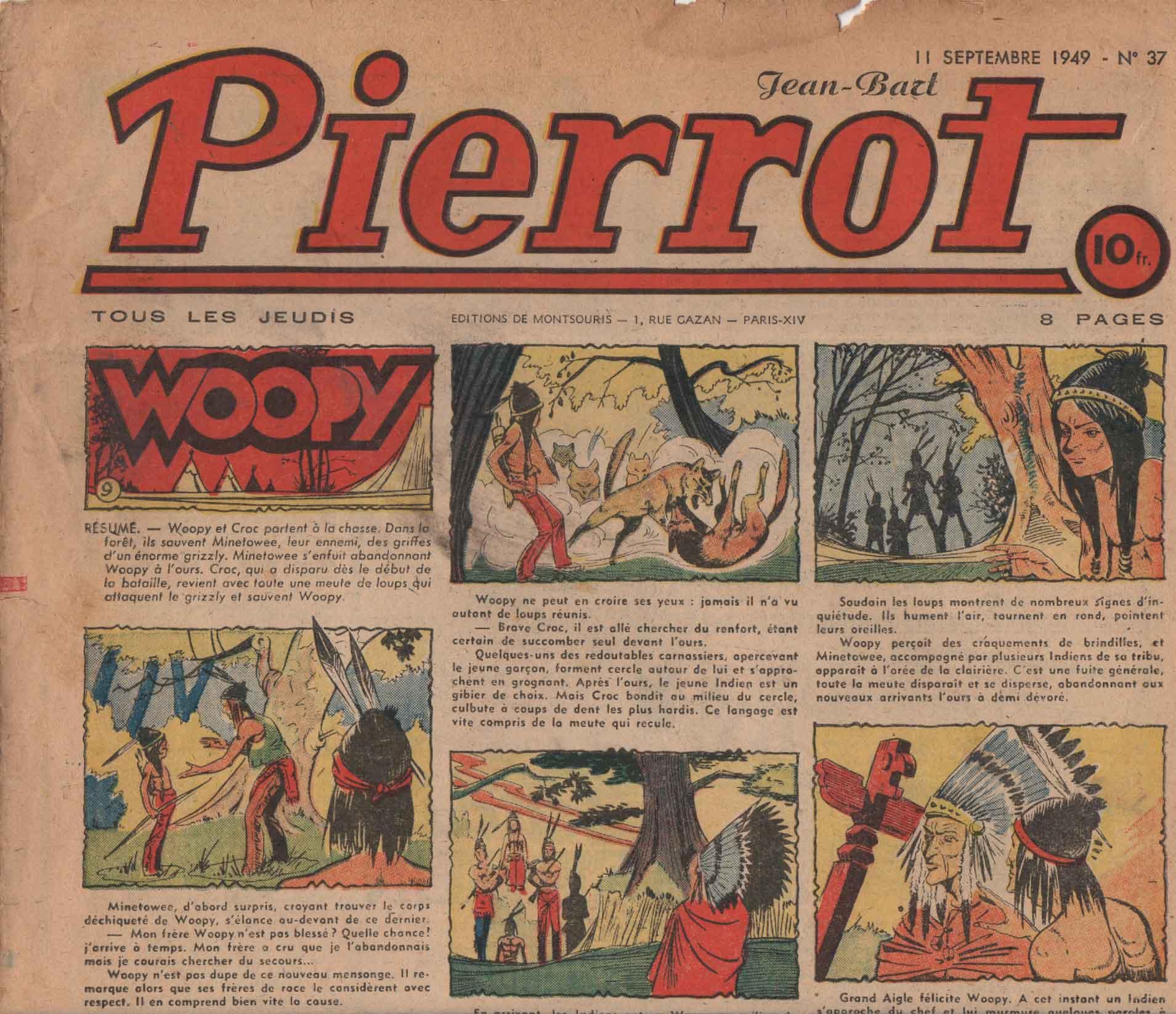 « Woopy » Pierrot n° 37 (11/.09/1949).