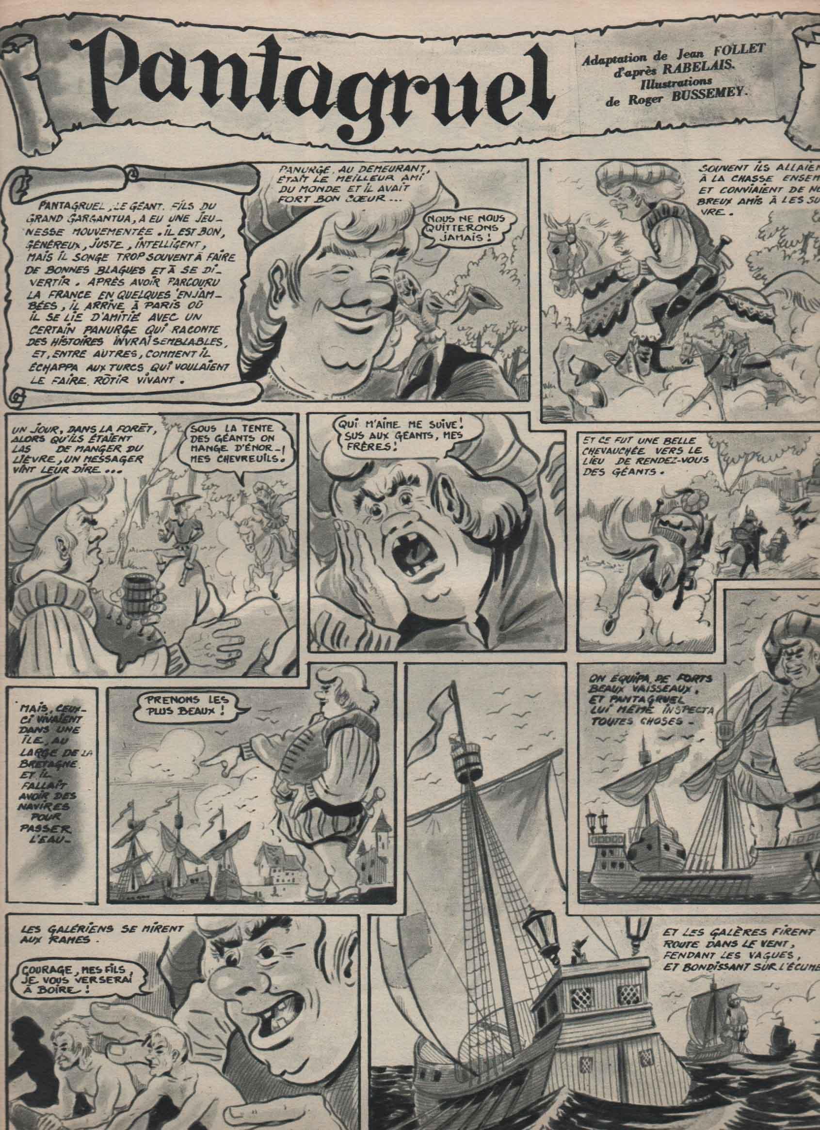 « Pantagruel » Jocko et Poustiquet n° 7 (12/1954).