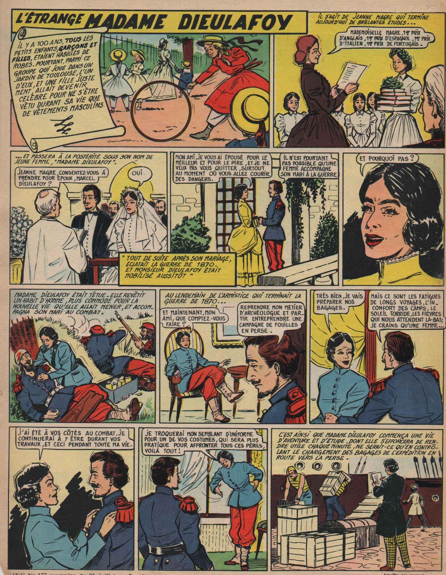 « L'Étrange Madame Dieulafoy » Line n° 177 (31/07/1958).