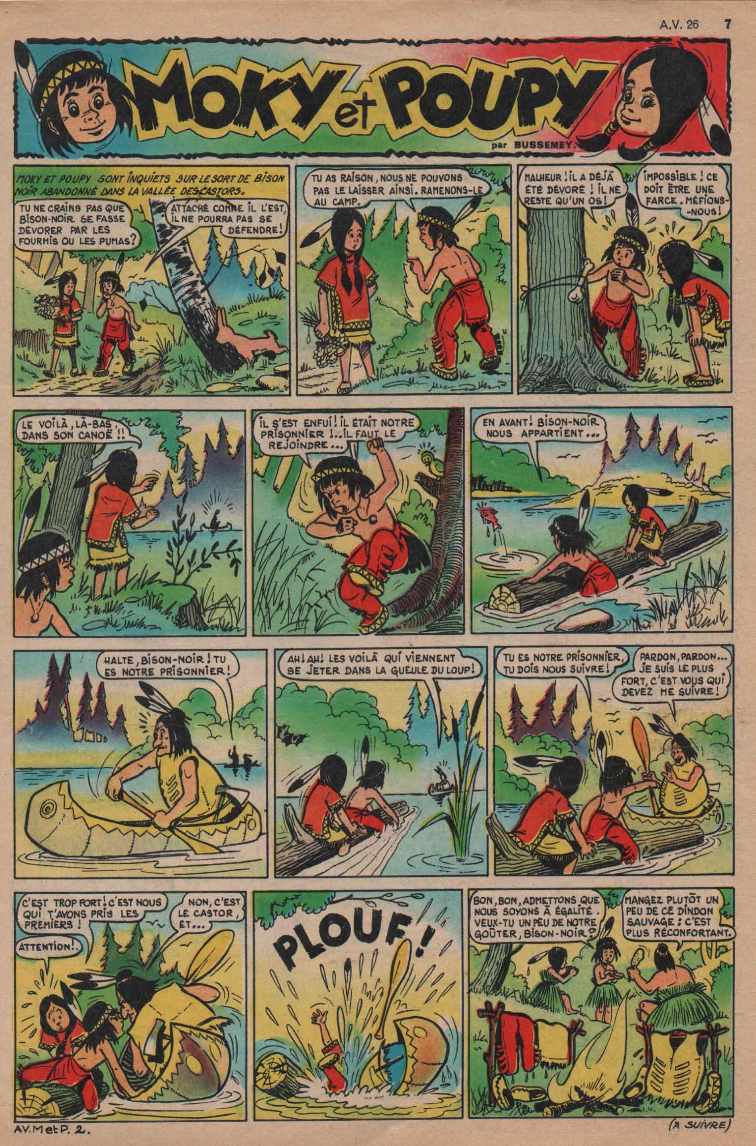 « Moky et Poupy » Âmes vaillantes n° 26 (29/06/1958).