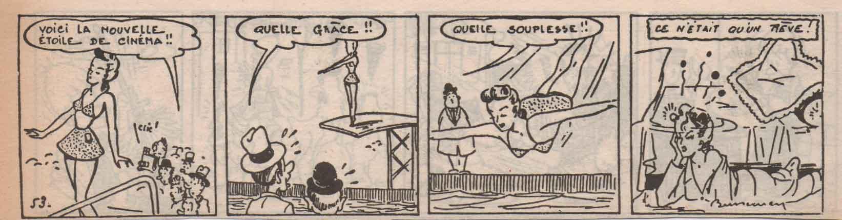 « Blondine » L'Écho du Centre (1949).