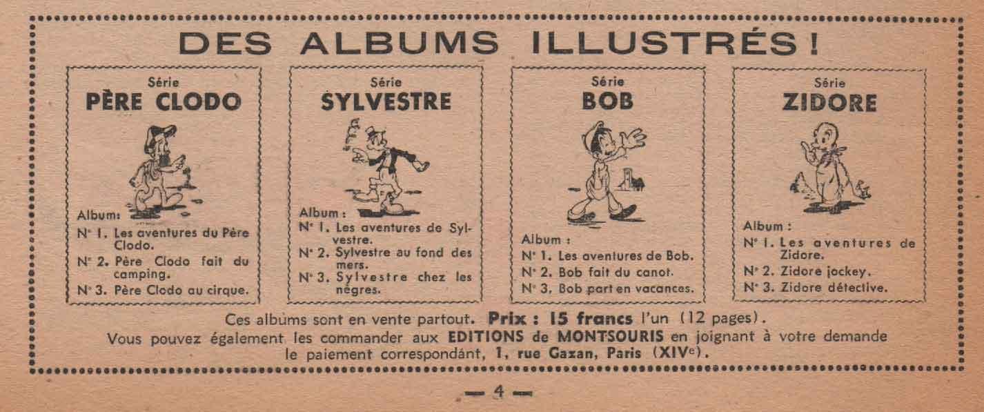 Annonce dans Lisette n° 31 (22/12/1946).