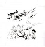 Illustration originale (encre de Chine sur Bristol ; 27 x 28 cm) pour la couverture de « Cloaques » (2e maquette ; Dargaud, 2002).