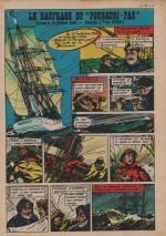 """« Le Naufrage du """"Pourquoi pas"""" » Cœurs vaillants n° 52 (28/12/1958)."""