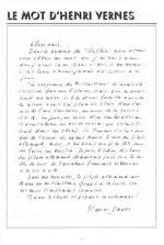 « Le Mot de Henri Vernes » dans Reflets.