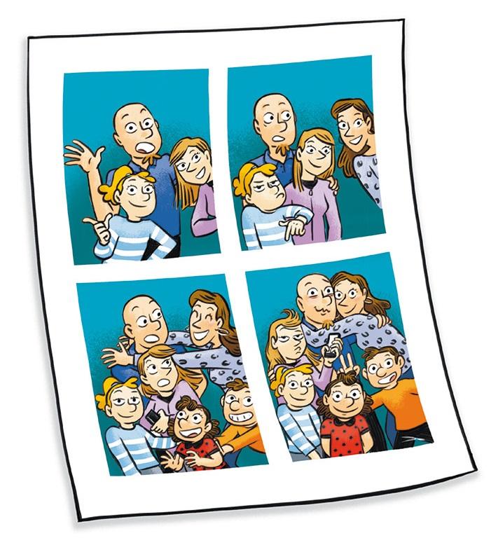 Photo de famille recomposée photo