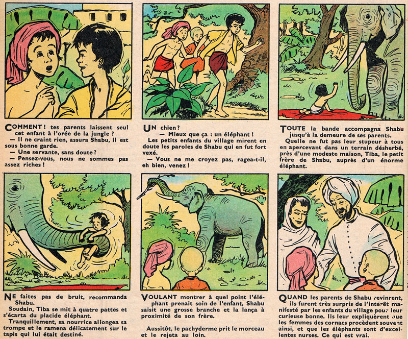 « Un bébé bien gardé » Âmes vaillantes n° 15 (13/04/1958).