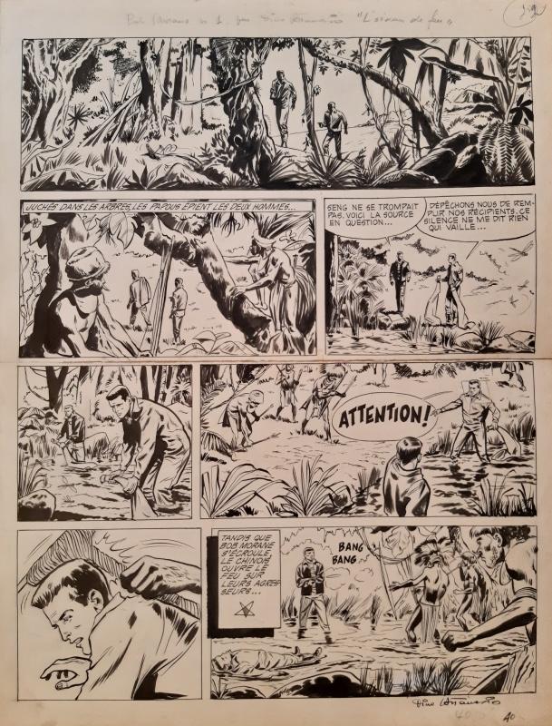 Planche originale de « Bob Morane » par Dino Attanasio.