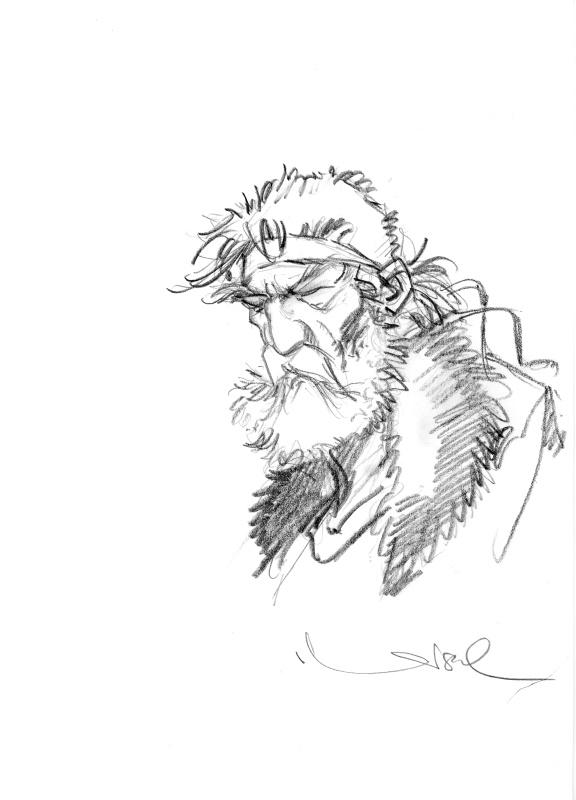 Crayonné du chevalier Bragon.