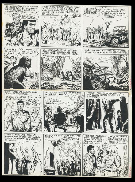 Planche originale de « Bob Morane » par Gérald Forton.