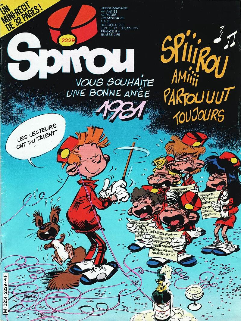 Ce qu'aurait pu être Spirou ! (Couverture du n° 2229, début janvier 1981).