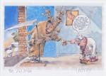 Petit ex-libris réalisé récemment par Marc Hardy (le dessinateur de « Pierre Tombal ») en la mémoire de Raoul Cauvin.