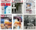 Des unes chocs pour évoquer le chaos ambiant, le 12 septembre 2001...