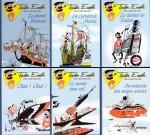 Les six albums pirates de « Tonton Eusèbe » éditiés vers 2018, sans mention d'éditeur.