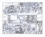 Une page du carnet de story-boards de Ralph Meyer.