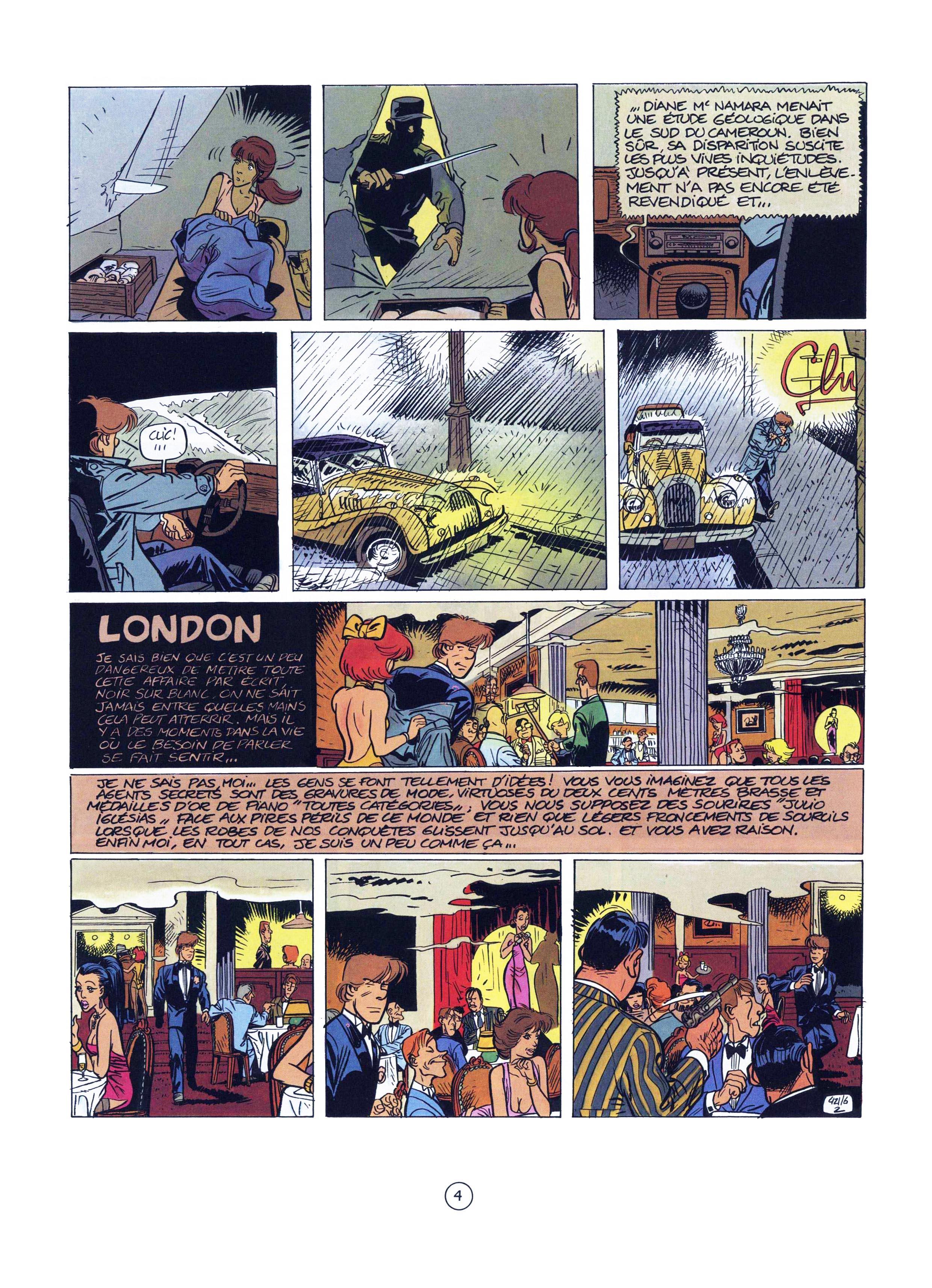 L'autodérision et la parodie sont des arts... (planche 2 extraite de « Scotch Malaria », Dupuis 1987-2021).