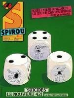 Visuel pour la prépublication, couverture et première planche de « Suicides » (Dupuis, 1986-2021).