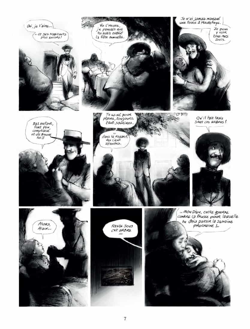 Un homme et une foule : agneau et loups... (pages 7, 8 et 83 - Delcourt 2020).