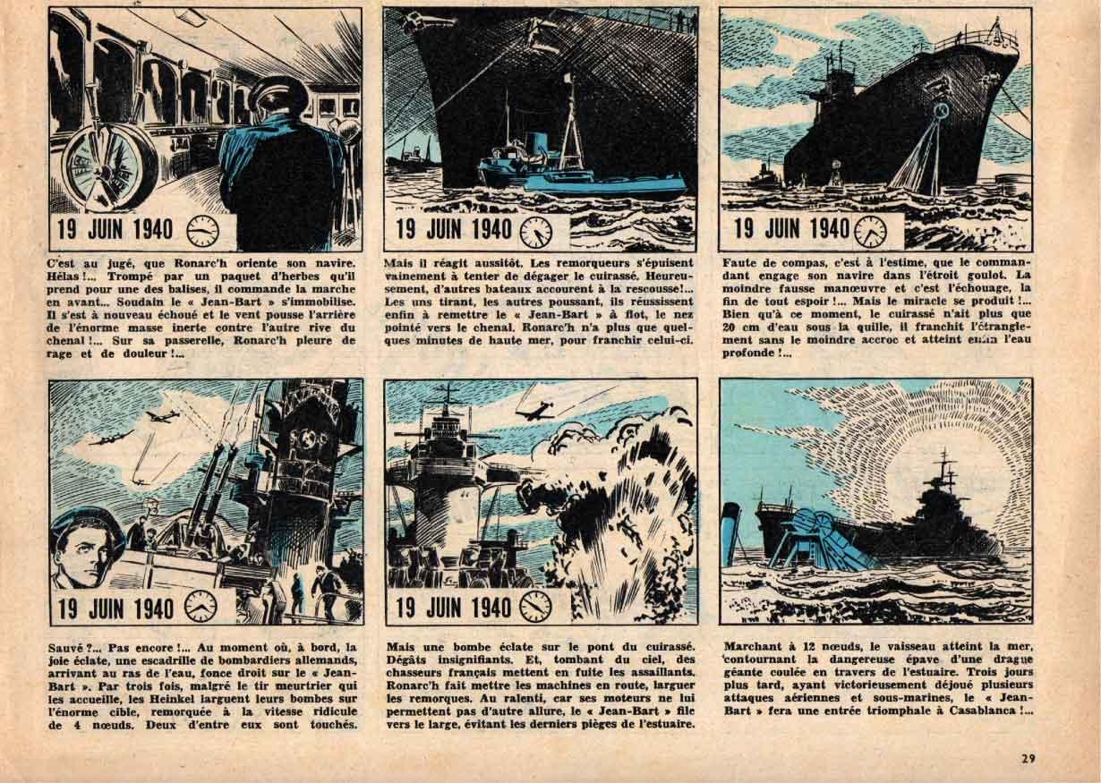 « L'Évasion de Jean Bart » Pilote n° 1 (29/10/1959).