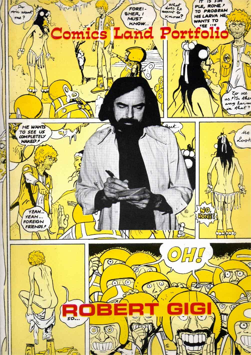 Annonce portfolio italien Comix Land (1973).