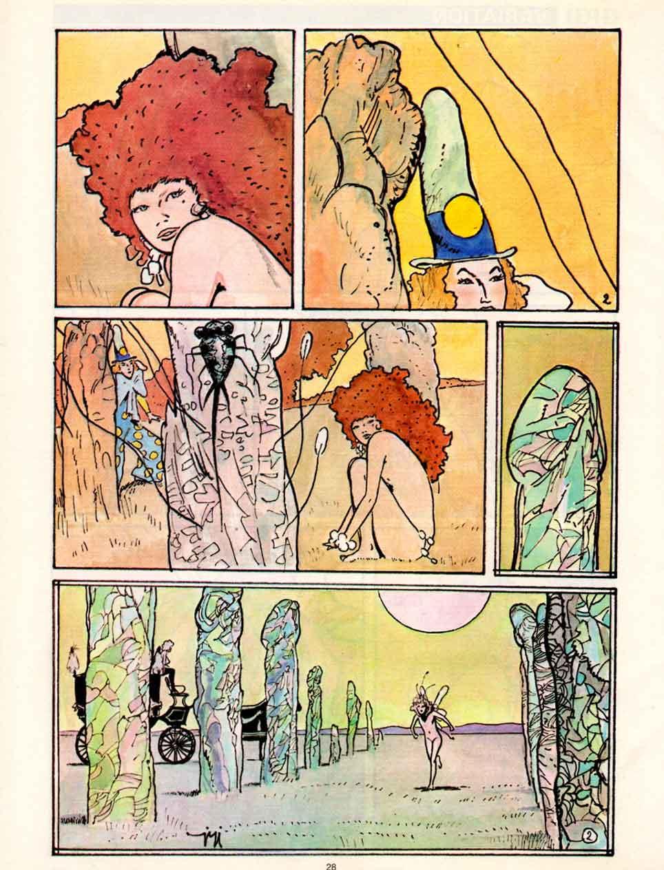 « Variations » « Rêves écarlates » Aedena (1987).