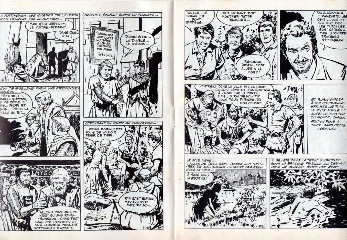 « Robin des bois » Vaillant n° 1049 (02/06/1965).