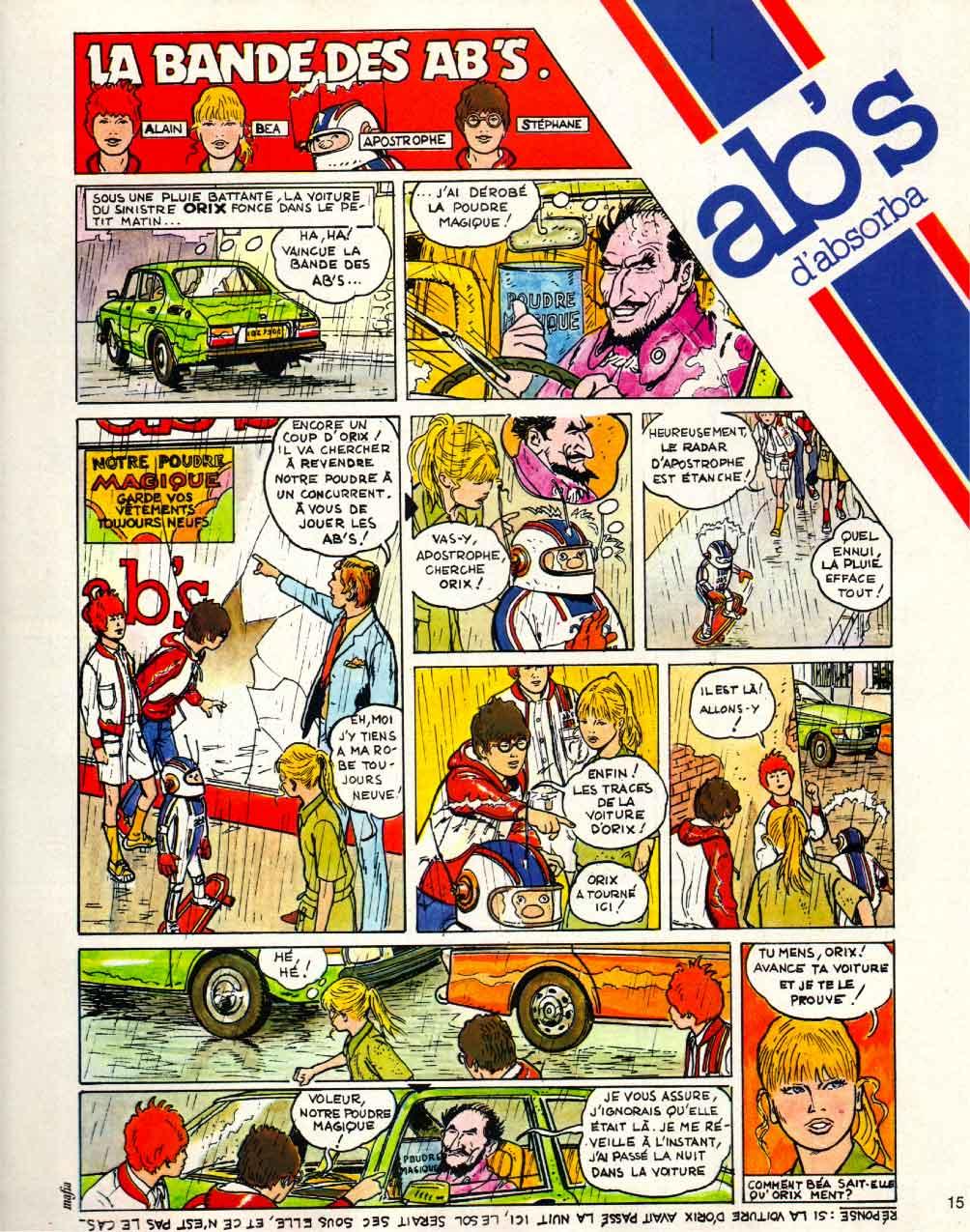 « La Bande des ABS » publicité dans Pif gadget n° 474 (04/1978).