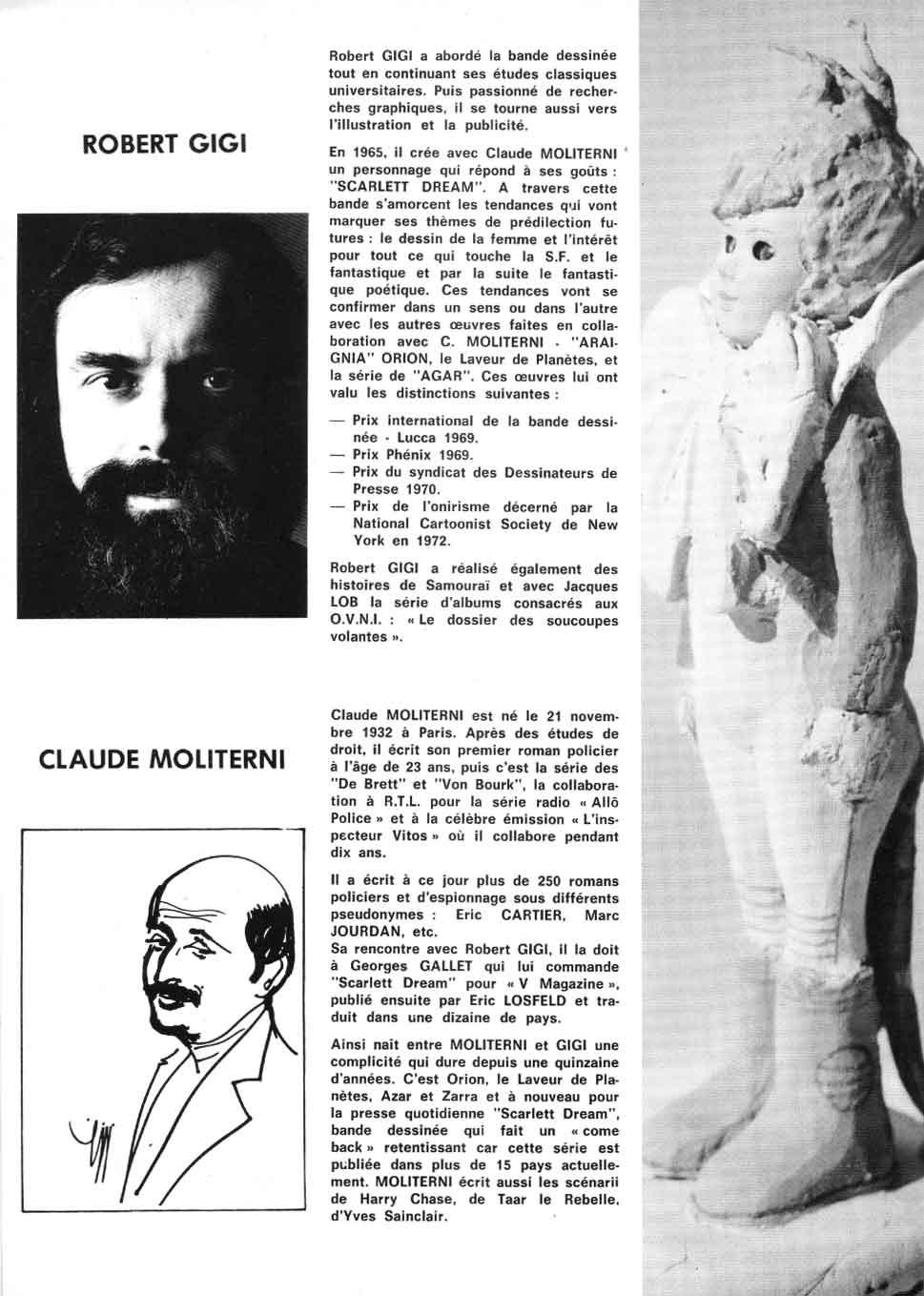 Sculpture Agar Dossier de presse Dargaud.