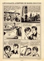 « L'Étonnante Aventure de Marie-Christine » Fillette n° 480 (29/09/1955).