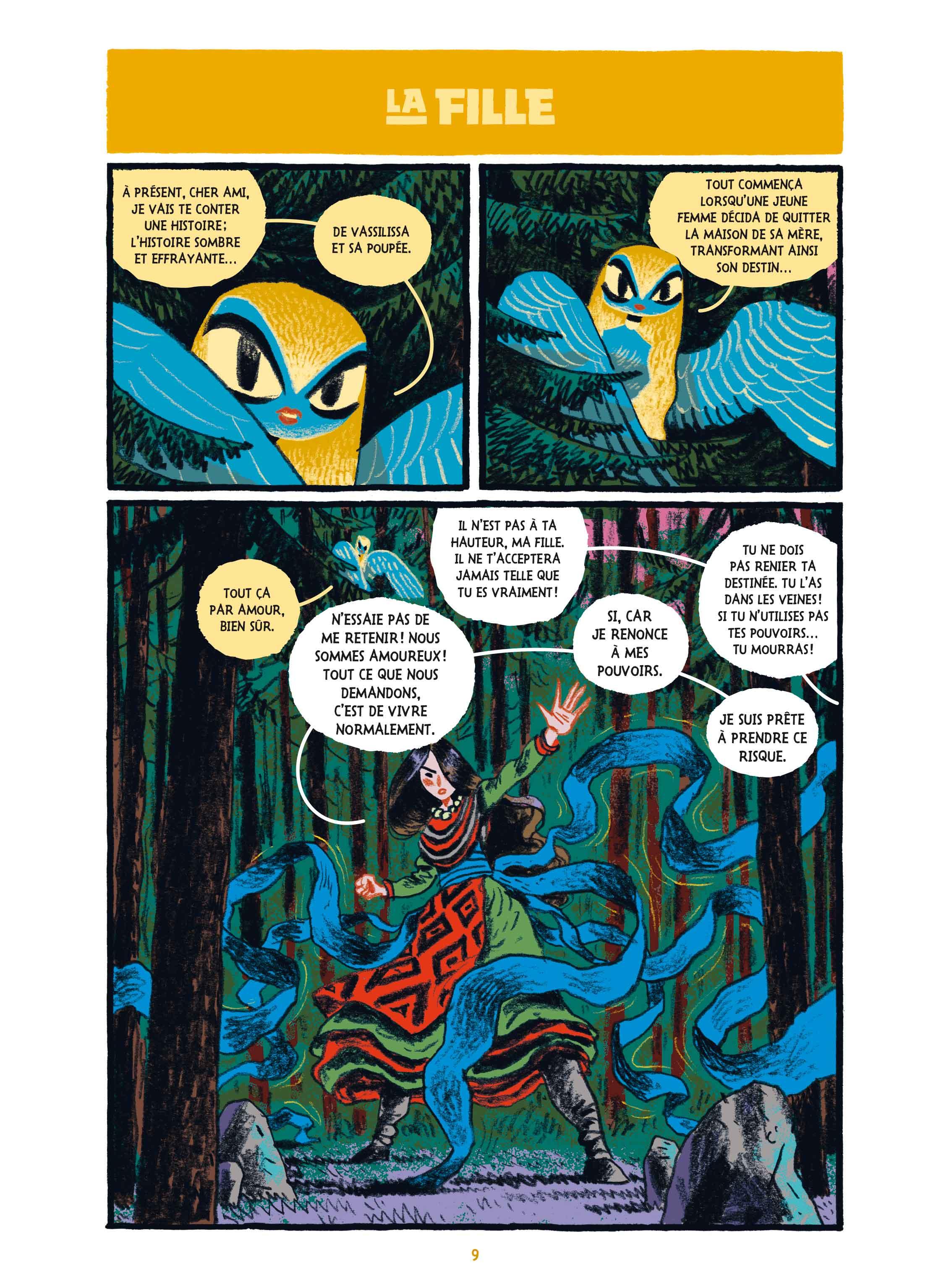 « La Princesse guerrière » page 9.