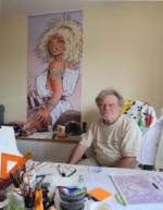 Michel Weyland dans son atelier.