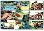 Une planche du dimanche de « Tarzan ».