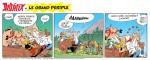 Six strips promotionnels encore énigmatiques (éd. Dargaud et Albert René - 2021).