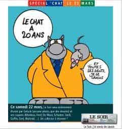 Le Chat souffle ses 20 bougies dans le journal Le Soir