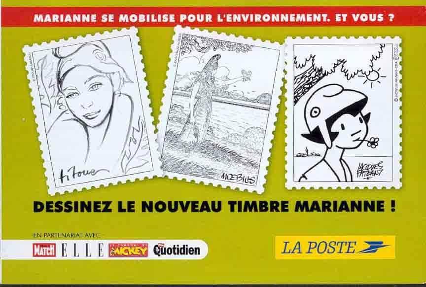 Dessinez le nouveau timbre Marianne !