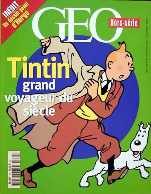 Geo rend hommage à Tintin
