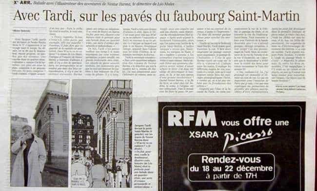 Tardi à l'honneur dans le Figaro