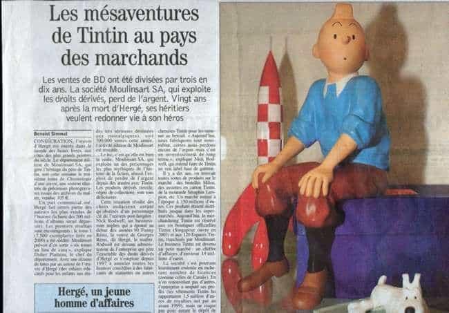 Tintin passé au crible dans les pages du Journal du Dimanche