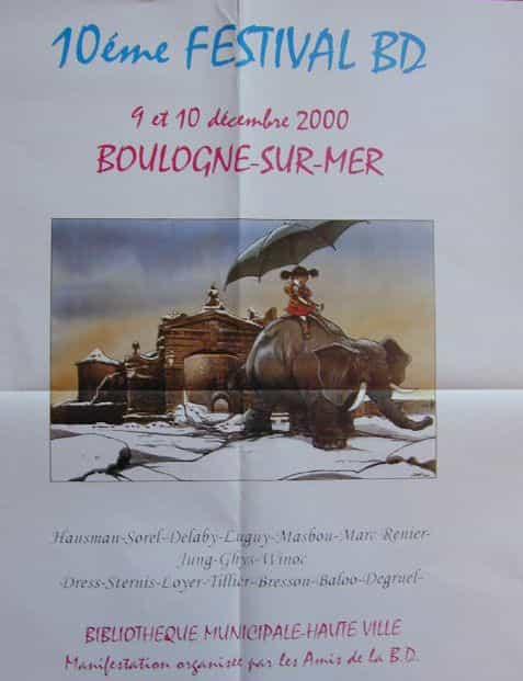 Un collector pour le 10 ème festival BD de Boulogne-sur-mer les 9 et 10 décembre.