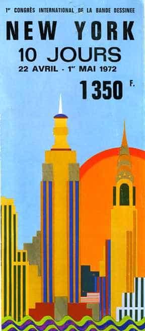 1°CONGRES DE LA BANDE DESSINEE  A NEW YORK