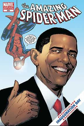 Spiderman à la rescousse de Barack Obama !