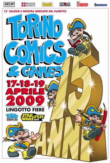 TORINO COMICS 2009 : ANNIVERSAIRE ET HOMMAGE.