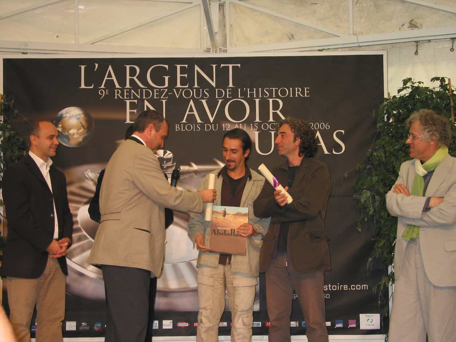 Prix de la bande dessinée historique de Blois : Dabtitch et Pendanx récompensés pour Abdallahi chez Futuropolis