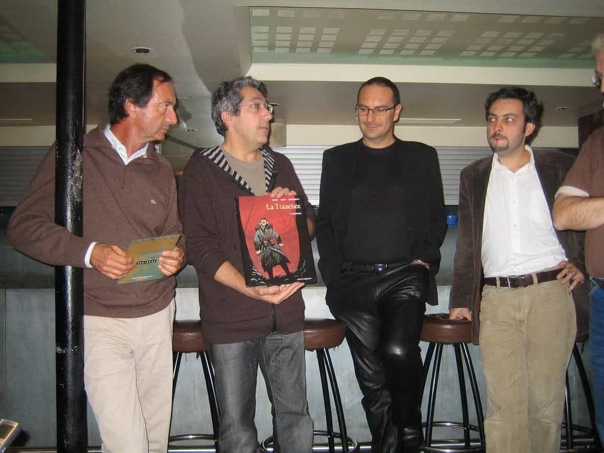 Christophe Marchetti, lauréat du prix « Décoincer la Bulle », pour La Tranchée.