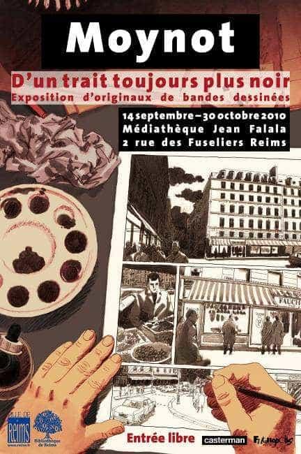 MOYNOT, « D'UN TRAIT TOUJOURS PLUS NOIR », S'EXPOSE À REIMS
