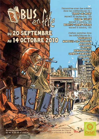 """"""" BD BUS EN FÊTE """" : quatre semaines de bande dessinée dans l'Oise, du 20 septembre au 14 octobre 2010"""