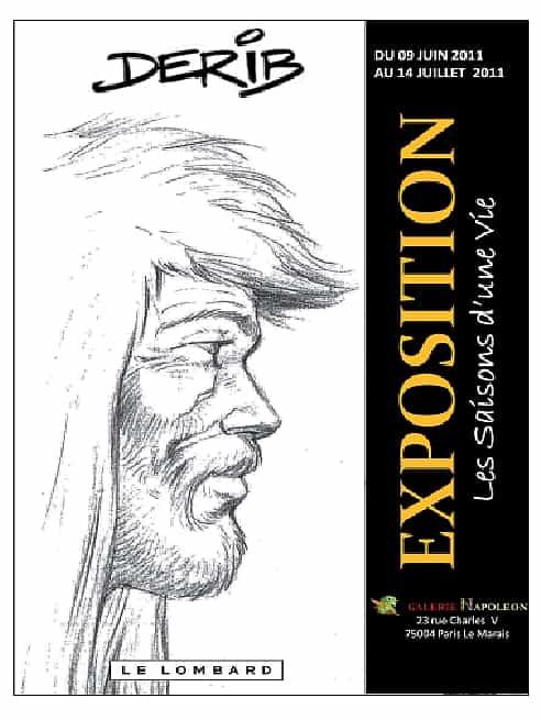 UNE EXPOSITION D'AQUARELLES DE DERIB : du 9 juin au 14 juillet 2011 à la galerie Napoléon (Paris IVe)