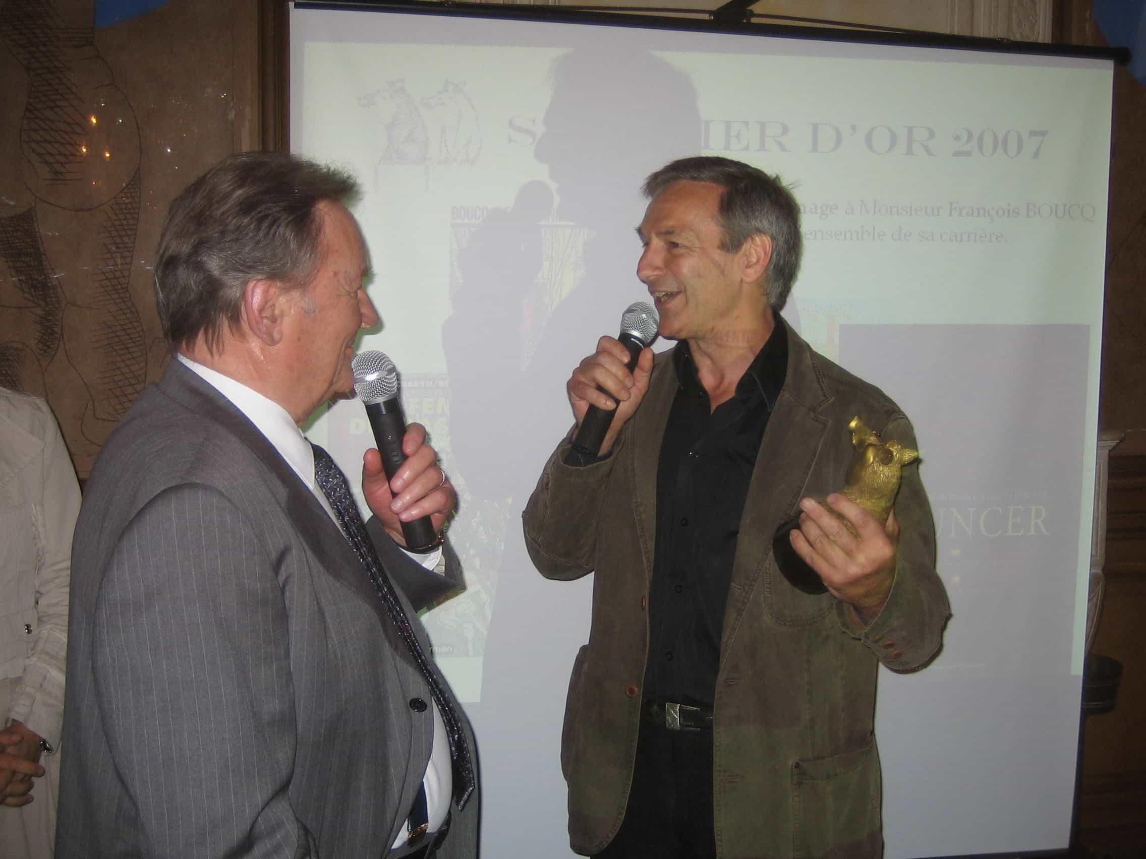 François Boucq honoré par Albert Uderzo